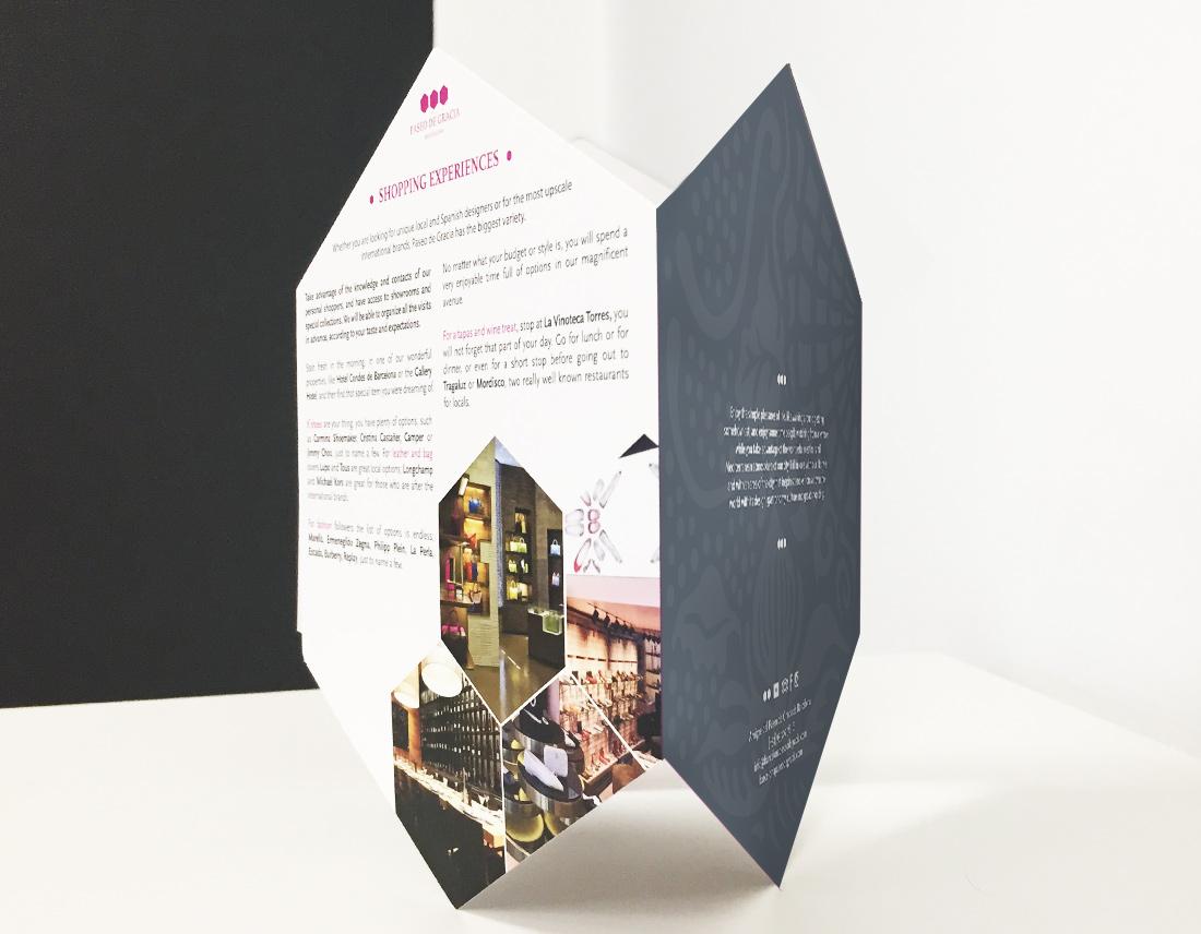 Experience brochure for Asociación Paseo de Gracia