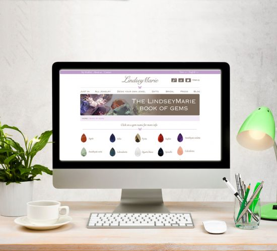 Web design jewelry online shop