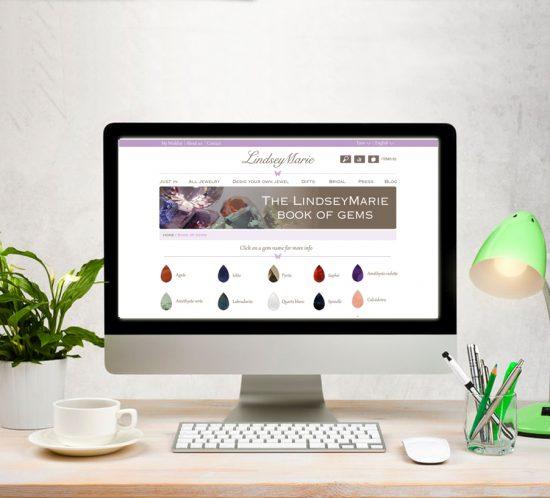 Web design jewelry online shop