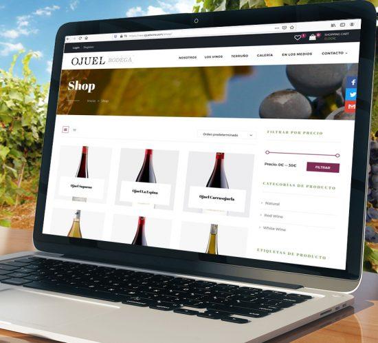 Diseño web bodegas Ojuel